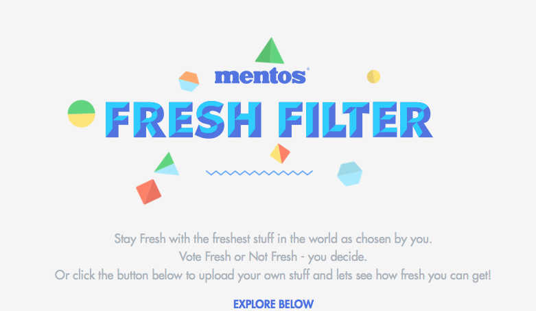 nethunting ,  mentos fresh filter, branded content