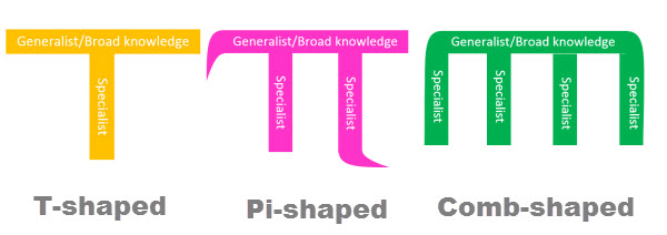 skills, PI-SHAPED, COMB-SHAPED, T-SHAPED, TENDENCIAS, NETHUNTING
